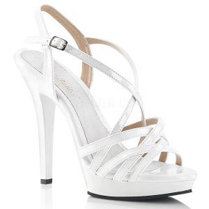 Weiss 13 cm Fabulicious LIP-113 Sandaletten mit high heels