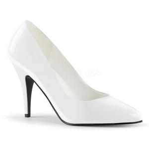 Weiss Lack 10 cm VANITY-420 klassische spitze pumps high heels