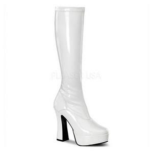 Weiss Lack 13 cm ELECTRA-2000Z High Heels Damenstiefel für Männer