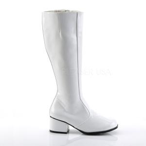Weiss Lack 5 cm FUNTASMA GOGO Damen Stiefel