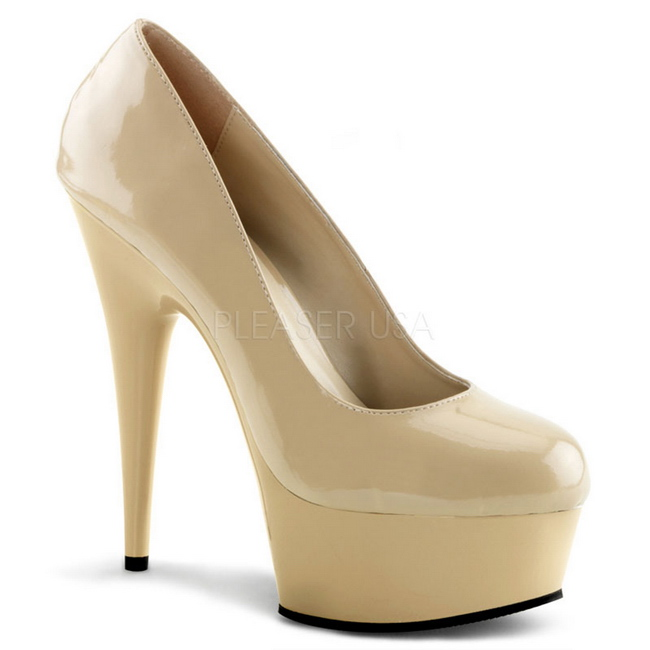wholesale dealer 96796 73600 Beige Lack 15 cm Pleaser DELIGHT-685 Plateau Pumps