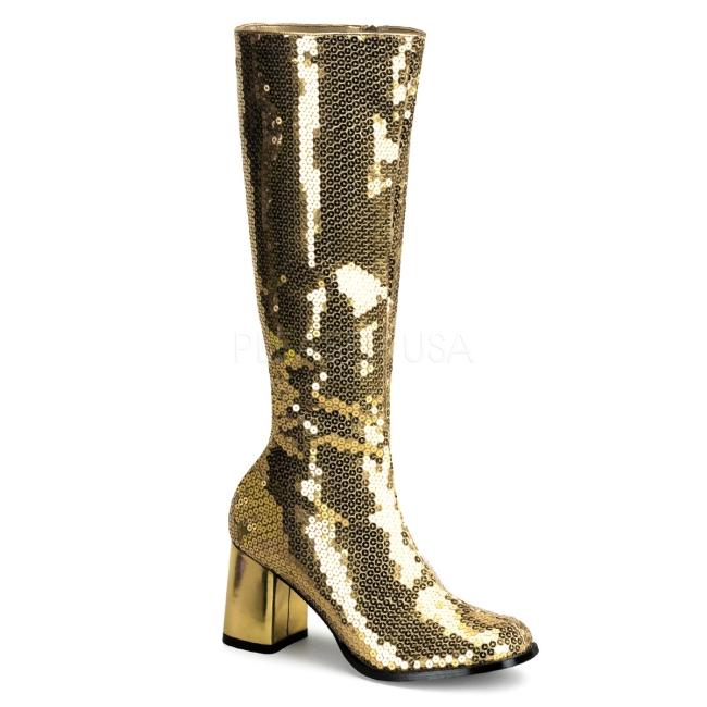 Pleaser High Heels Pumps Absatz 12,7 cm Pailetten, Gold, 37