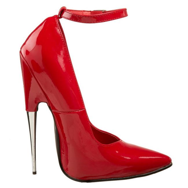 Rot Lack 15 cm SCREAM-12 Fetish Damen Pumps Schuhe