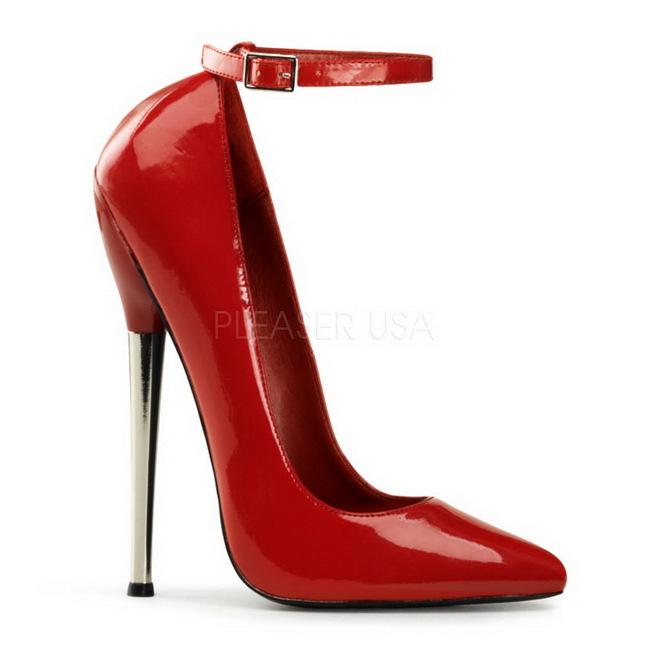 Rot Lack 16 cm DAGGER 12 Fetish Damen Pumps Schuhe