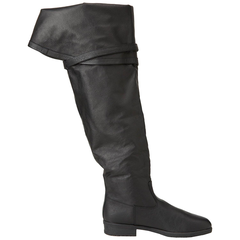 Schwarz Leder 4 cm MAVERICK-2045 Overknee Stiefel für Männer