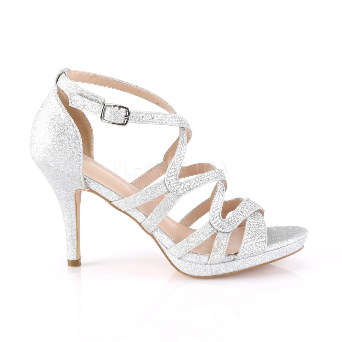 uk availability dda4f 40829 Silber 9,5 cm DAPHNE-42 Sandaletten mit stiletto absatz
