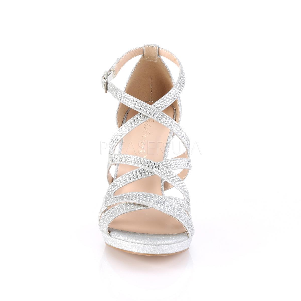 Cm 9 Stiletto Sandaletten Mit Daphne 42 Silber Absatz 5 UMpSzV