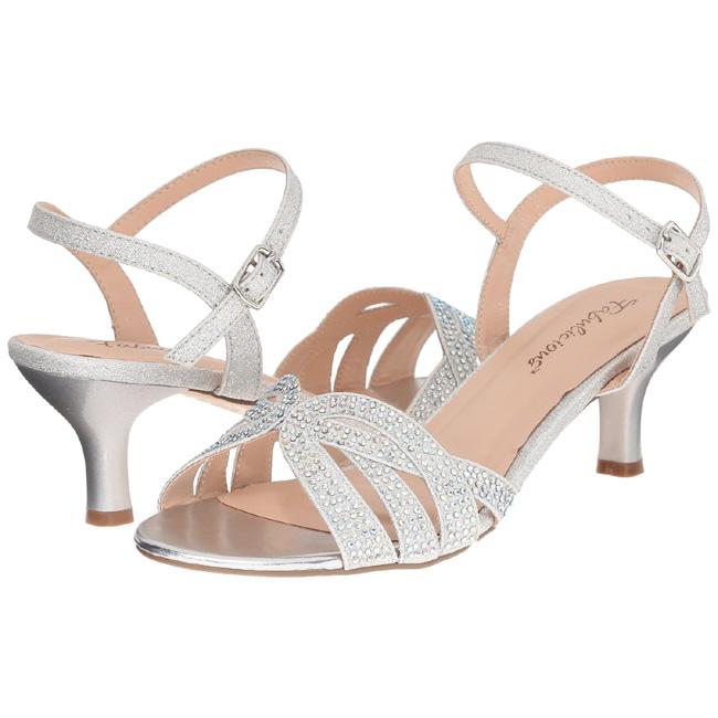 huge discount 2ae3b 7ab06 Silber Strass 6,5 cm AUDREY-03 Hohe Abend Sandaletten mit Absatz
