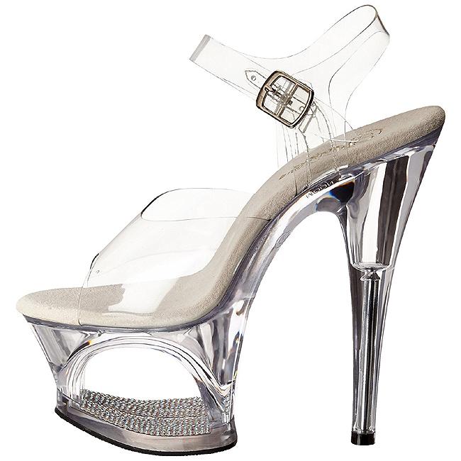Pleaser Womens Moon-708DM//C//M Platform Sandal