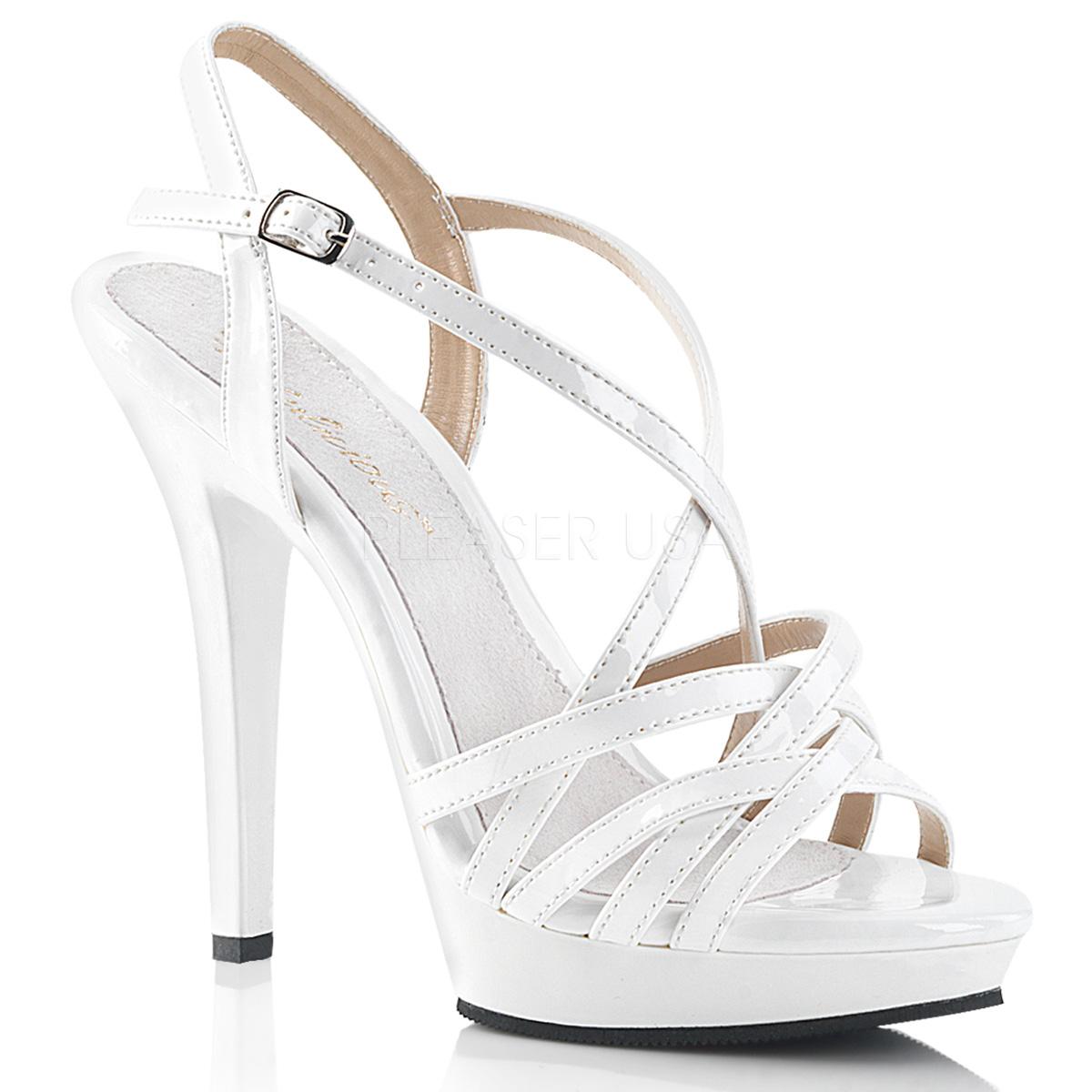 High 13 Cm Sandaletten Heels Mit Fabulicious Lip 113 Weiss fbg6y7