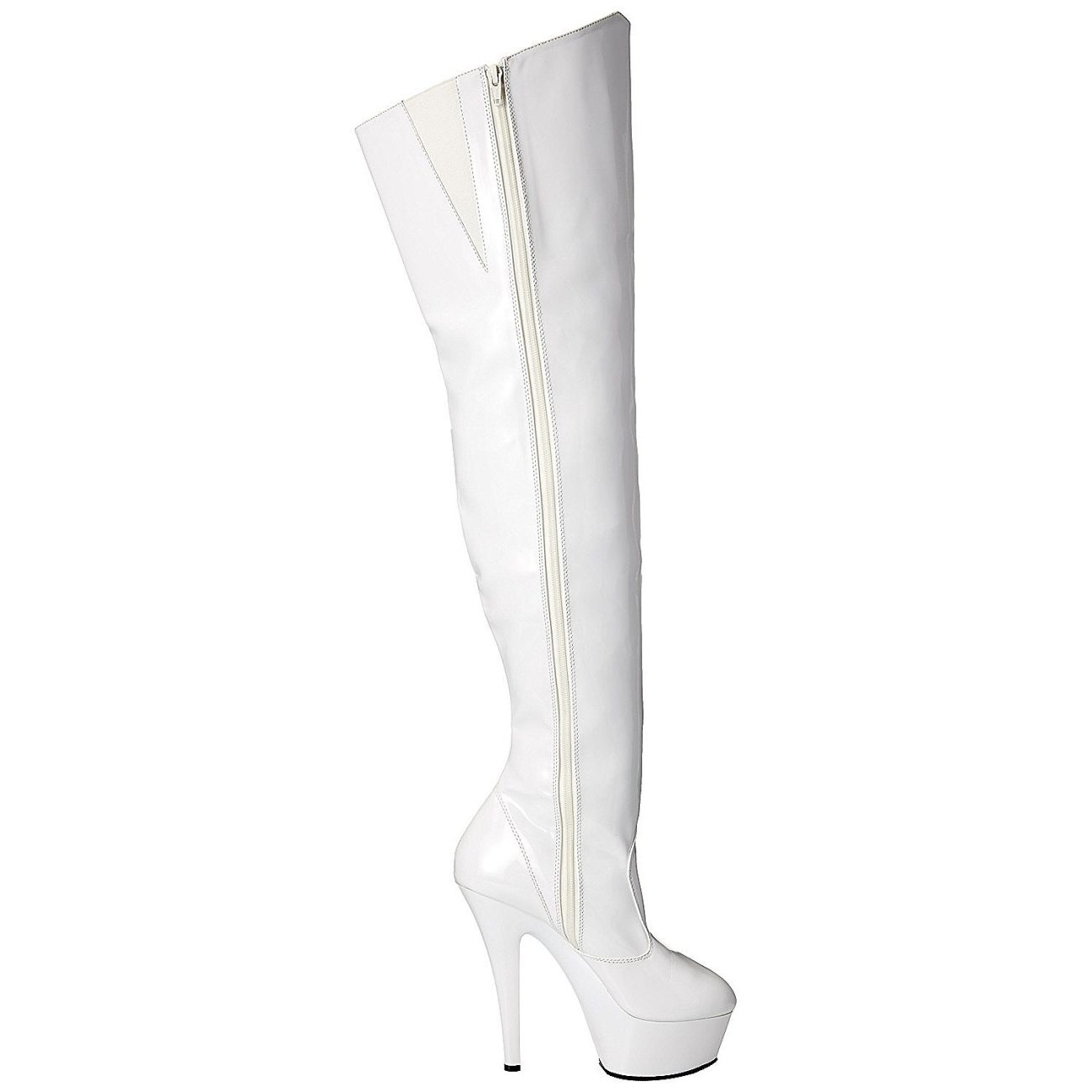 Weiss 15 cm KISS 3010 overknee stiefel mit plateausohle