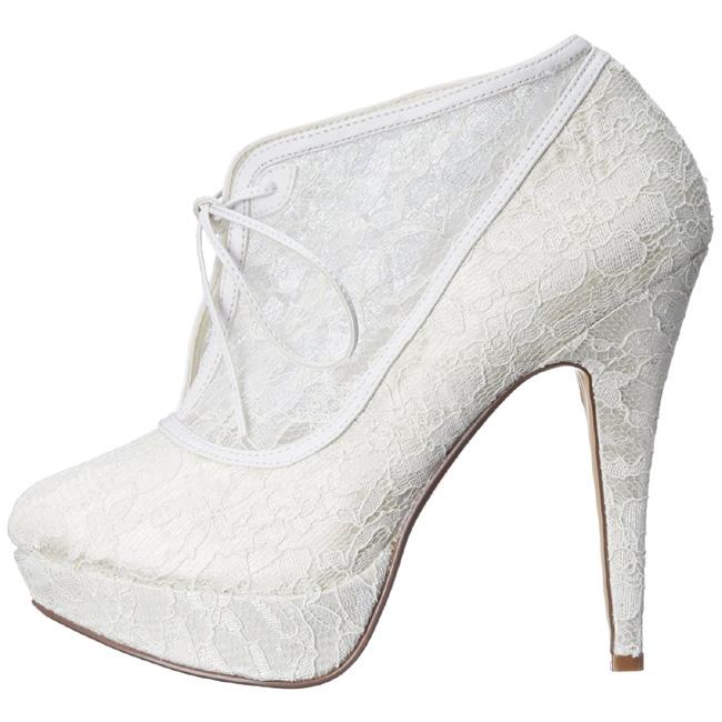 Brautschuhe | Spitzen High Heels Peep Toe Brautschuhe Lani