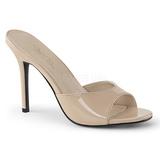 Beige 10 cm CLASSIQUE-01 womens mules shoes