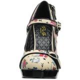 Beige 12 cm PINUP SECRET-14 Mary Jane Pumps Shoes