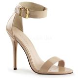 Beige 13 cm AMUSE-10 high heels für männer