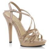 Beige 13 cm Fabulicious LIP-113 Sandaletten mit high heels