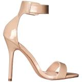 Beige 13 cm Pleaser AMUSE-10 Sandaletten mit high heels