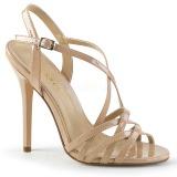 Beige 13 cm Pleaser AMUSE-13 Sandaletten mit high heels