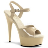 Beige 15 cm Pleaser DELIGHT-609 Plateau High Heel