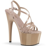 Beige 18 cm ADORE-713 pleaser sandaletten mit stiletto absatz