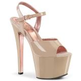 Beige 18 cm SKY-309TT pleaser sandaletten mit goldene sohlen