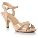 Beige 8 cm BELLE-315 high heels für männer