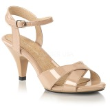 Beige 8 cm Fabulicious BELLE-315 low heeled sandals