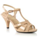 Beige 8 cm Fabulicious BELLE-322 Sandaletten mit high heels