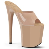 Beige Jelly-Like 20 cm FLAMINGO-801N exotic pole dance mules