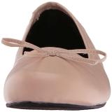 Beige Kunstleder ANNA-01 grosse grössen ballerinas schuhe