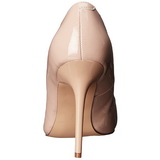 Beige Lack 10 cm CLASSIQUE-20 Damen Pumps Stiletto Absatz