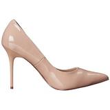 Beige Lack 10 cm CLASSIQUE-20 High Heels Pumps für Männer