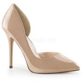 Beige Lack 13 cm AMUSE-22 Klassische Pumps Schuhe Damen