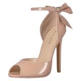 Beige Lack 13 cm SEXY-16 Klassische Pumps Schuhe Damen