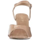 Beige Lack 8 cm BELLE-309 High Heel Sandaletten Damen