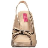 Beige Lackleder 11,5 cm PINUP-10 grosse grössen sandaletten damen