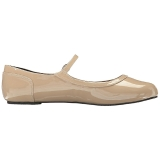 Beige Lackleder ANNA-02 grosse grössen ballerinas schuhe