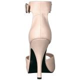 Beige Leatherette 12,5 cm EVE-02 big size sandals womens