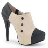 Beige Leatherette 13,5 cm CHLOE-11 big size pumps shoes