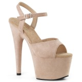 Beige Leatherette 18 cm ADORE-709FS high heeled sandals
