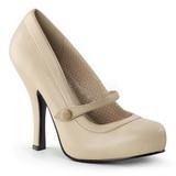Beige Matt 12 cm CUTIEPIE-02 Damen Pumps Schuhe Flach