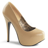 Beige Matt 14,5 cm Burlesque BORDELLO TEEZE-06 Plateau Pumps