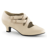 Beige Matte 5 cm DAME-02 Women Pumps Shoes Flat Heels