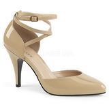 Beige Patent 10 cm DREAM-408 big size pumps shoes