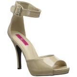 Beige Patent 12,5 cm EVE-02 big size sandals womens