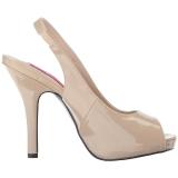 Beige Patent 12,5 cm EVE-04 big size sandals womens