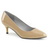 Beige Patent 6,5 cm KITTEN-01 big size pumps shoes
