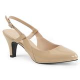 Beige Patent 7,5 cm DIVINE-418 big size pumps shoes