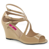 Beige Patent 7,5 cm KIMBERLY-04 big size sandals womens