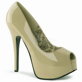 Beige Varnished 14,5 cm TEEZE-22 Women Pumps Shoes Stiletto Heels